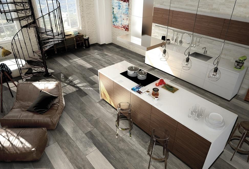 pavimenti interni cucina open space