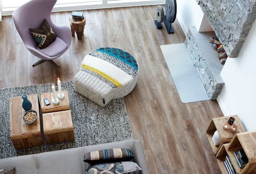 pavimenti laminati salotto vista dall'alto