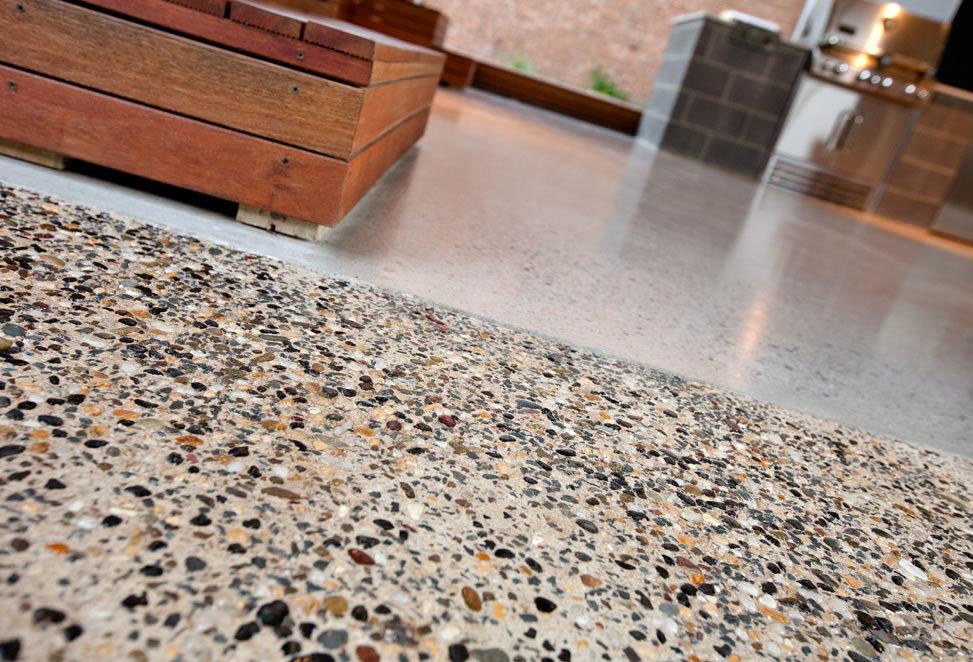 pavimento in graniglia dettaglio