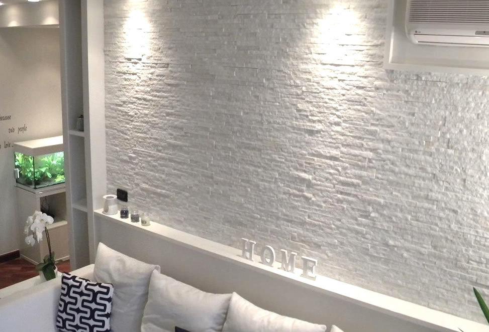 rivestimento pietra naturale bergamo parete letto camera
