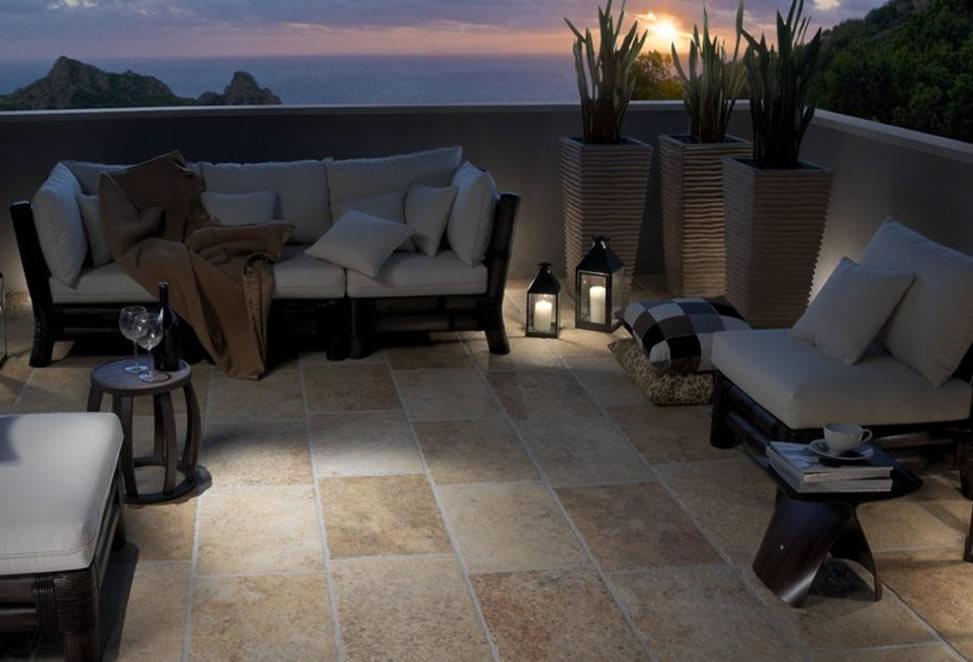 tramonto terrazzo in gres porcellanato