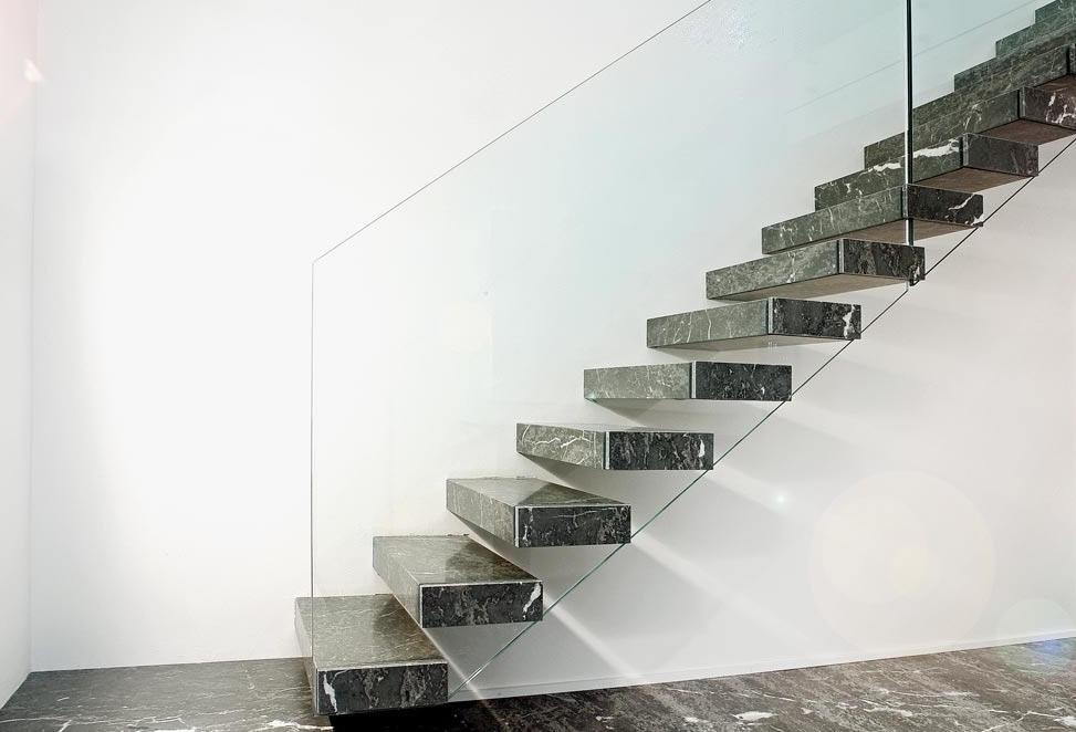 scale marmo granito bergamo casa privata